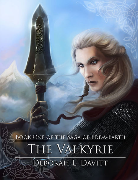 Cover of The Valkyrie; woman holding a spear