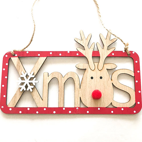 XMas Hanging Plaques