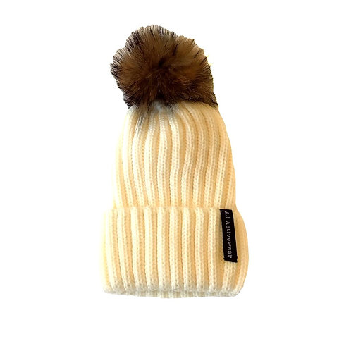 AJ Activewear PomPom Hat Cream