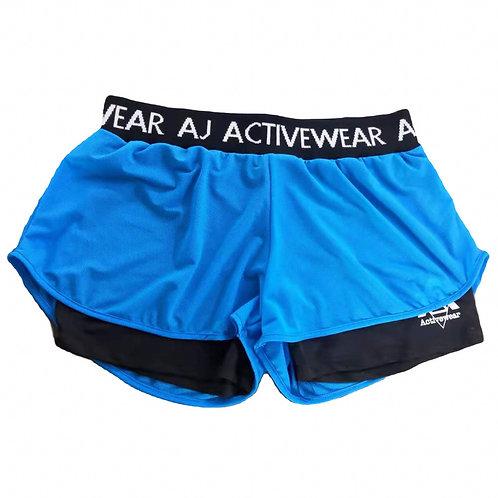 AJ Activewear Blue Shorts