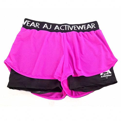 AJ Activewear Fuchsia Shorts