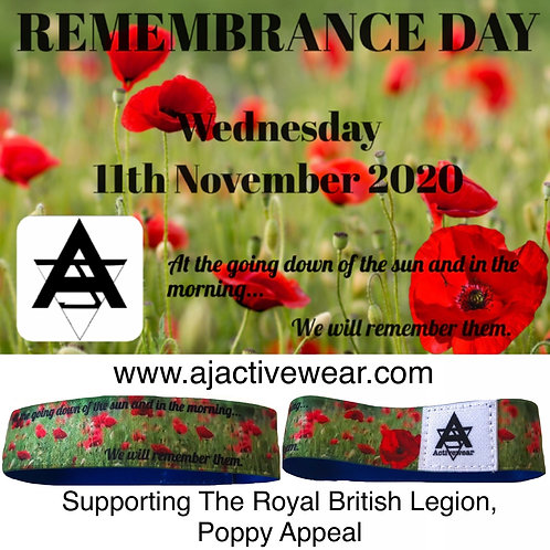 AJ Activewear Charity Wristbands LIMITED EDITION