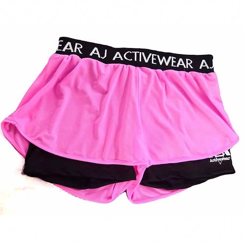 AJ Activewear Pink Shorts