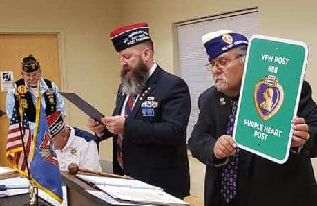 VFW Post 688 Recognized as a Purple Heart Post