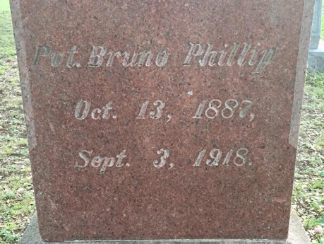 Post 688 will Celebrate Pvt Bruno Phillips whom our post is named after