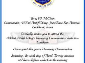 Post 688 Commander Inducted as Honorary Commander of 433rd MS