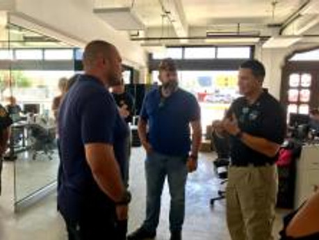 Post 688 Commander received special tour of Grunt Style Headquarters