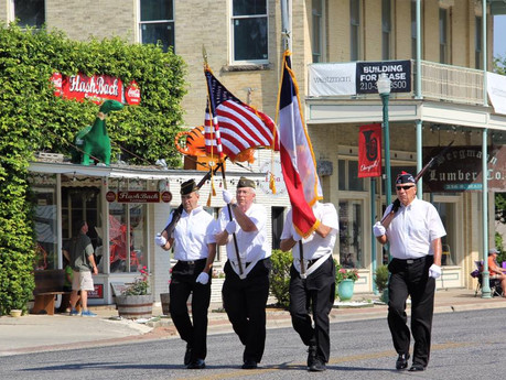 VFW Post 688 Carried Colors at Boerne Bergesfest Parade