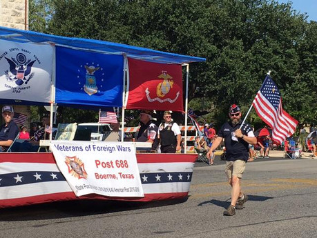 September 2, 2017 VFW Post 688 – 1st Place Float Award at Kendall County Fair Parade