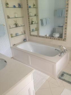 Limestone Tub & Vanity Top