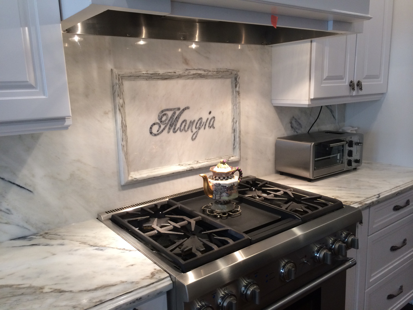 Custom Stone MANGIA Backsplash