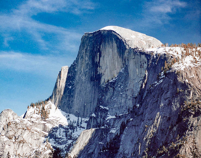 Half Dome in Early Winter