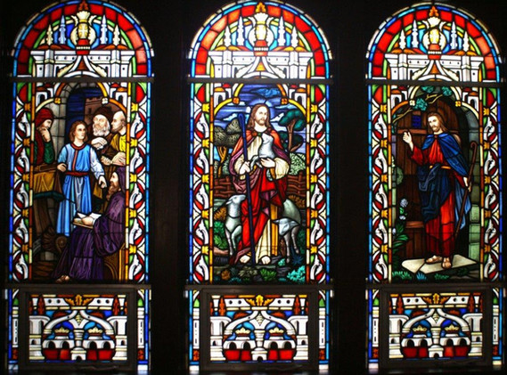 Triple Stained Glass Window