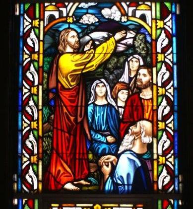 Jesus talking to the multitude