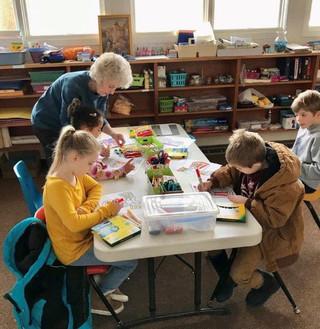 Karen Huffine with children.jpg