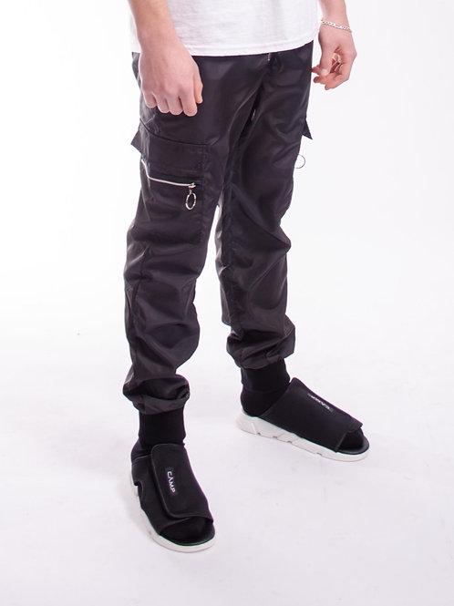 Cargo Black Track Pants