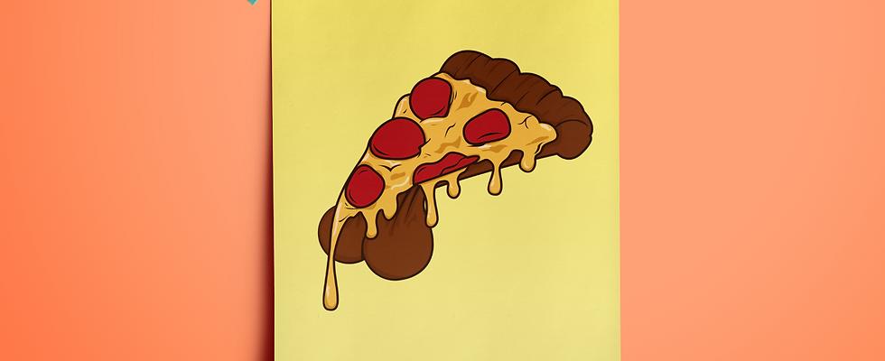 Pizza Balls Wall Art Framed