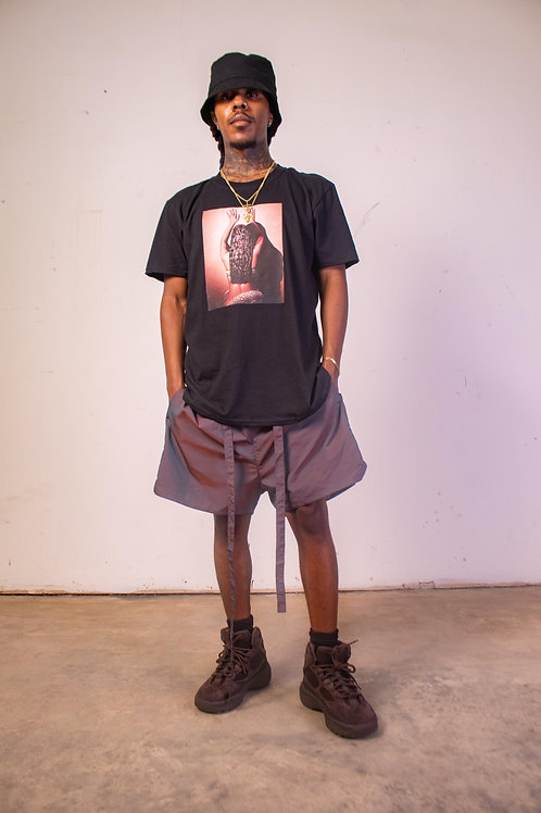 Hip Hop Solid Brown Beach to Street Drawstring Shorts