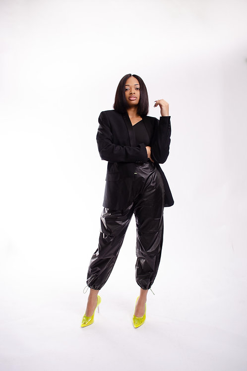 Trash Bag Pants Black