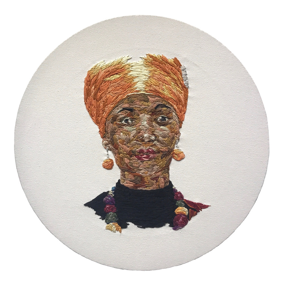 Ilhan Omar, cotton thread on canvas