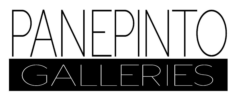 panepinto galleries logo in black and white, skinny font