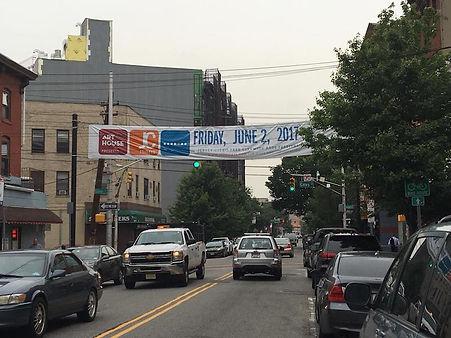 JC Friday Banner on Grove St in Jersey City