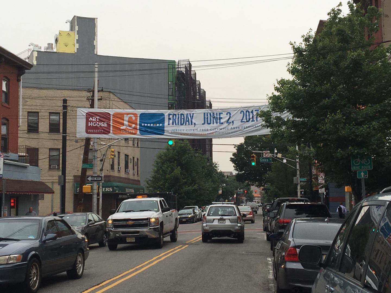 JC Fridays Banner in Jersey City