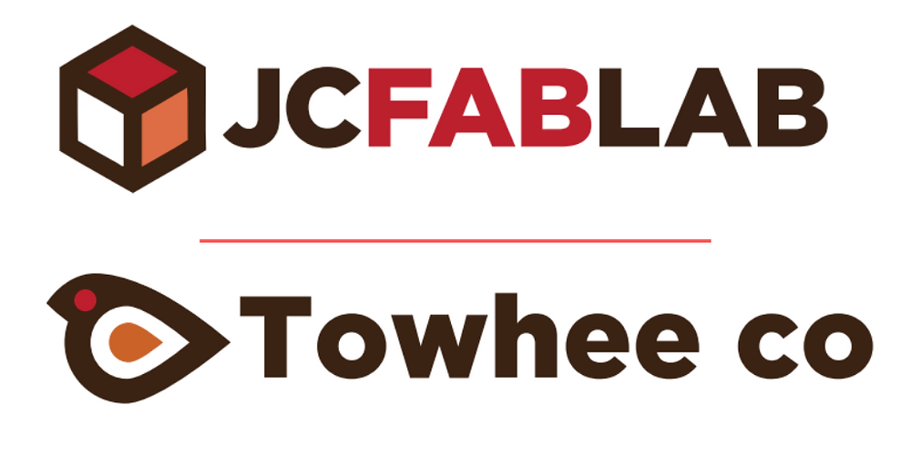 JC FAB LAB and Towhee Co. Logos