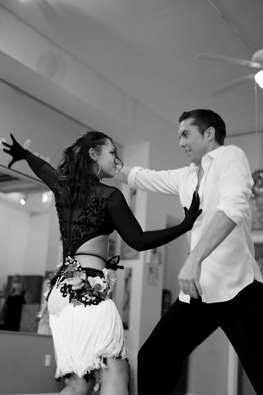Man and woman ballroom dance