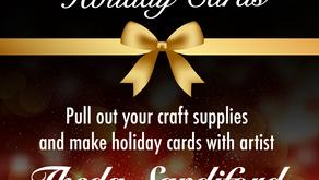 Theda Sandiford Art: Virtual Holiday Card Making Party