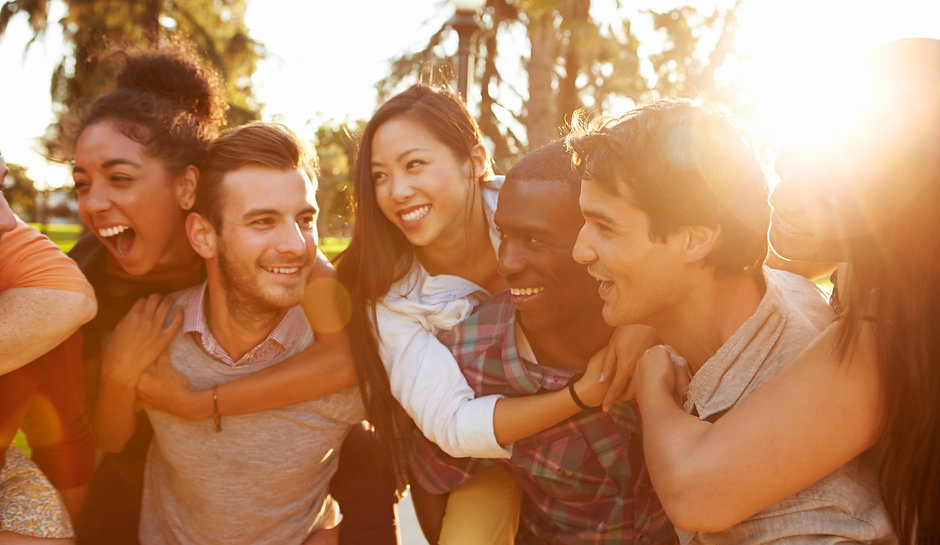 Group Of Friends Having Fun Together Out