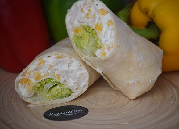 Chicken Mayo, Sweetcorn and Lettuce in a Tortilla Wrap