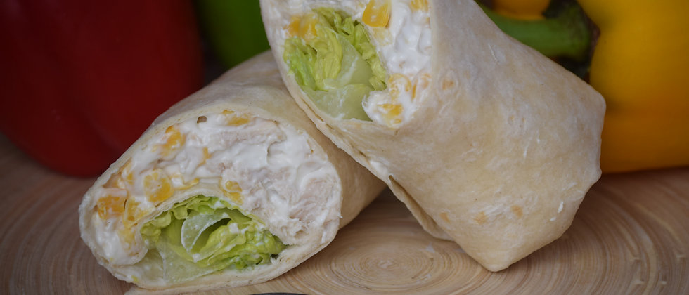Chicken Mayo, Sweetcorn and Lettuce in a Tortilla Wrap (s&c)