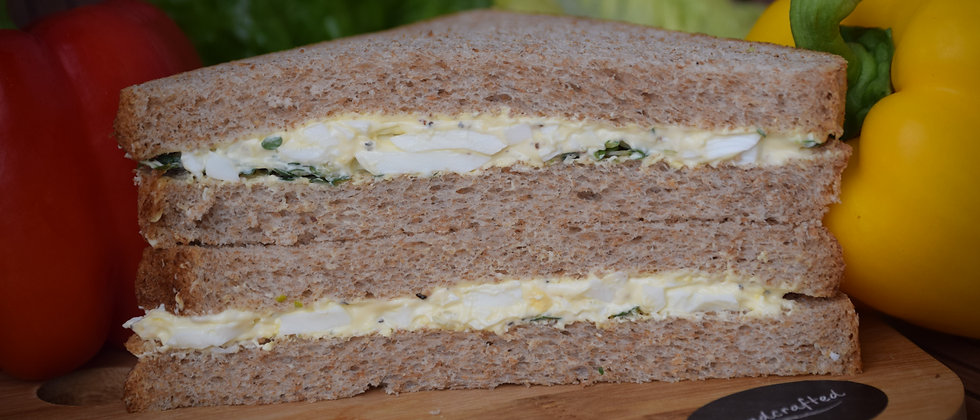 Egg Mayo and Cress on Wholemeal