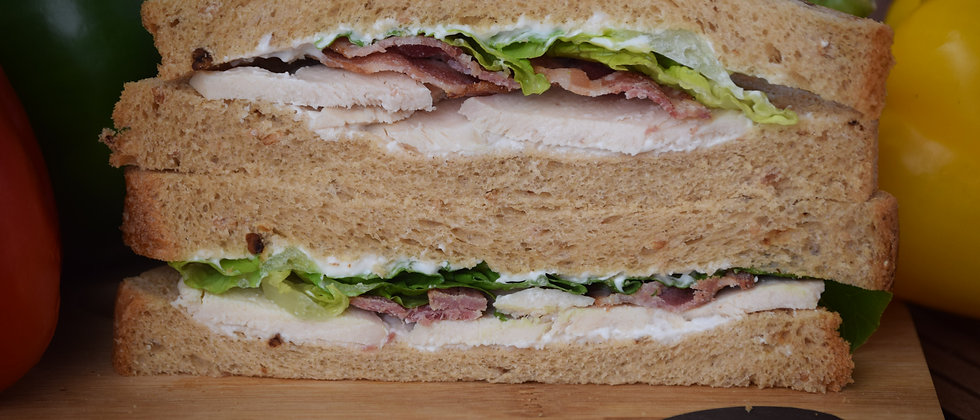 Chicken, Smoked Bacon, Lettuce & Mayo On Malted Wheat