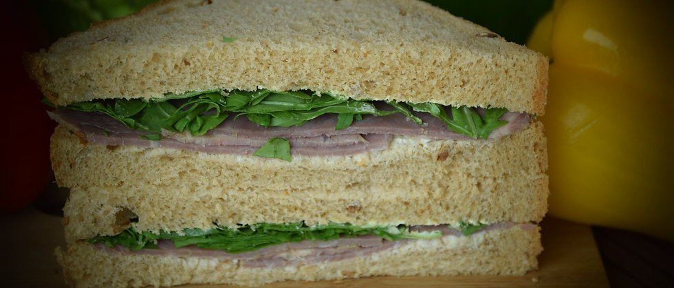 Roast Beef, Horseradish & Rocket On White (s&c)