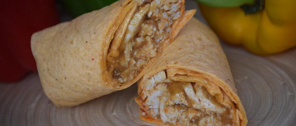 Chicken Tikka, Mango Chutney in a Spinach Wrap Served Hot (s&c)