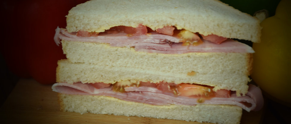 Ham and Tomato on White