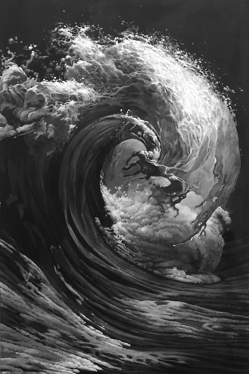The Wave (L'Onda) n.2 - 110 x 180 cm. / 43.3 x 70 in.