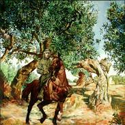Equestrian portrait, oil on canvas.