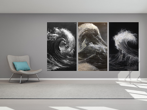 Waves triptych