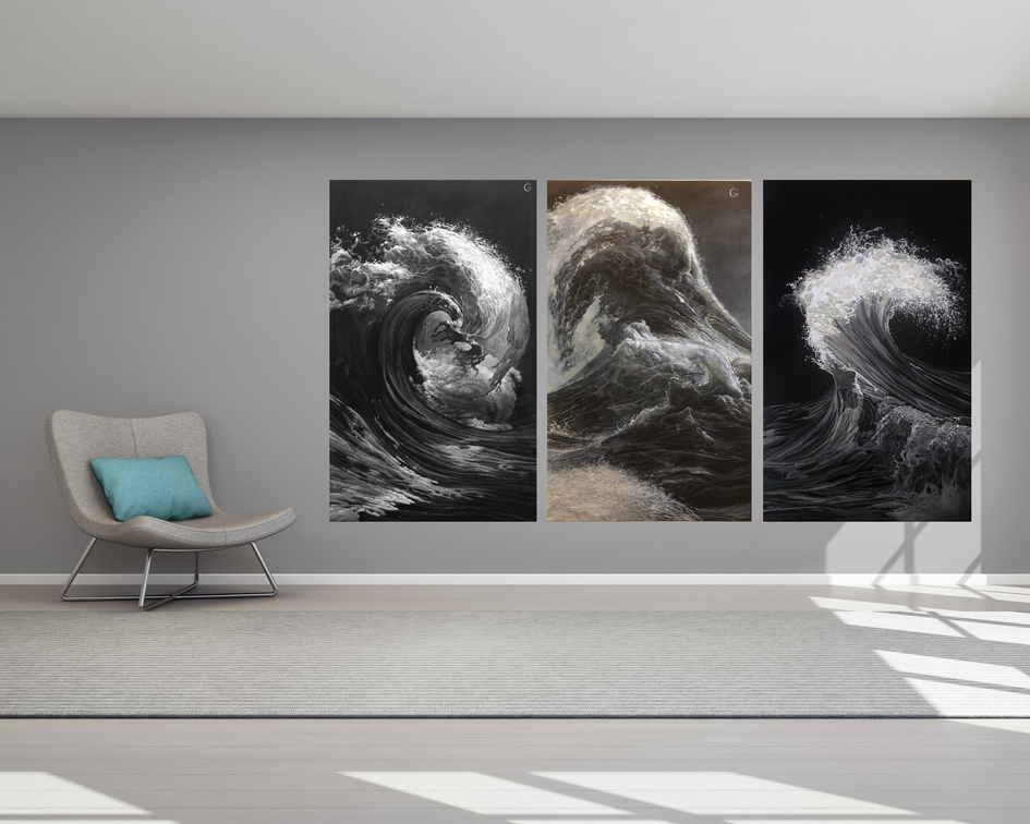 Waves tryiptych