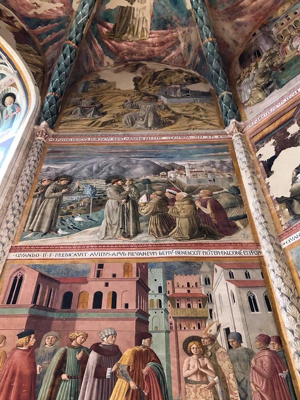 Benozzo Gozzoli mural paintings in Montefalco Umbria.
