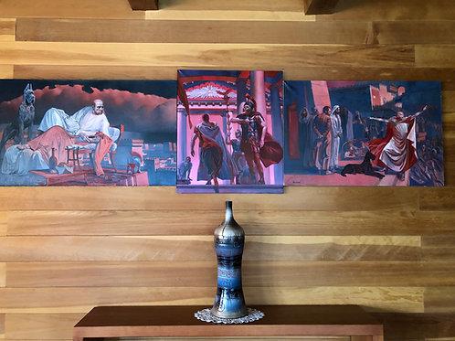 PONTIUS PILATE triptych - 250 x 70 cm./98.4 x 27.5 in.