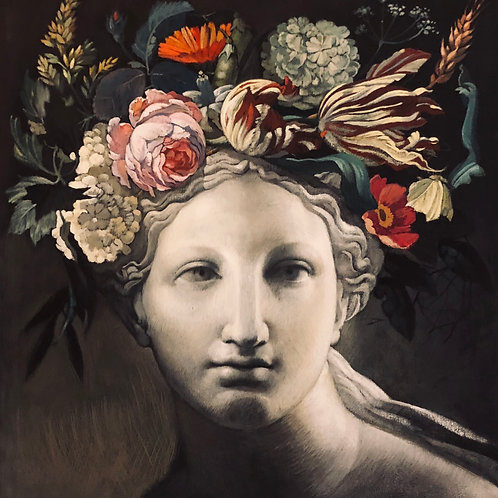 Flora - 49 X 44 cm. / 19.3 x 17.3 in.