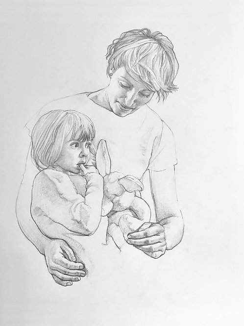 Child Portraits in Pencil or Oil Paints