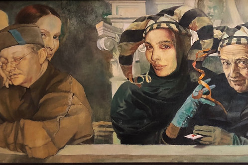 Jokers (1995), oil painting by Genya Gritchin