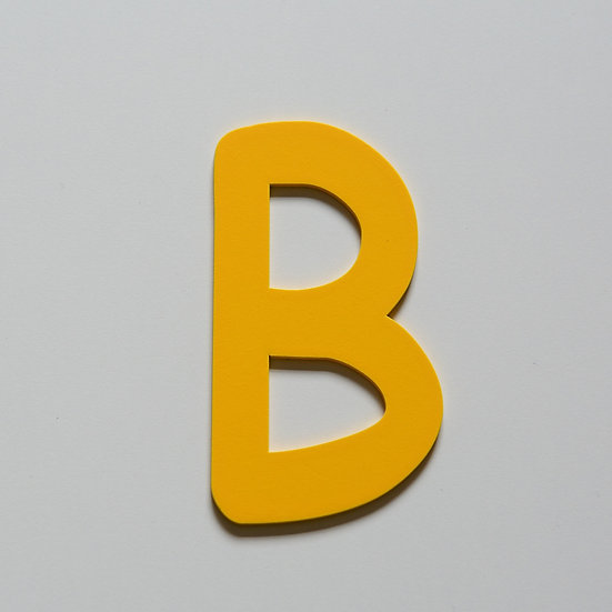 Wooden Letter B (10 color)