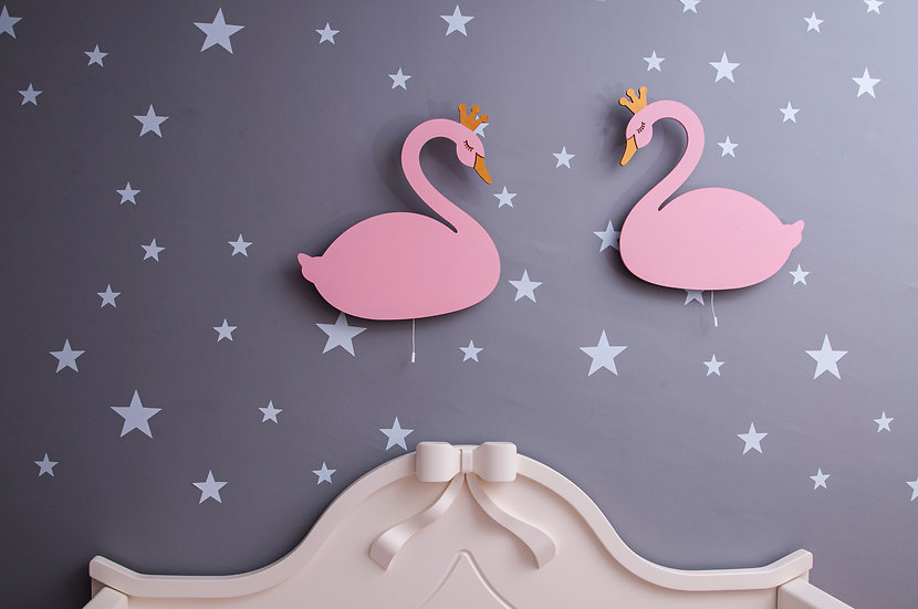 Swans Wall Lights (Couple)