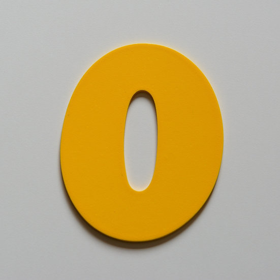 Wooden Number 0 (10 color)